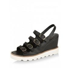 Deals, Discounts & Offers on Foot Wear - KOOVS Multi Buckle Chunky Wedges