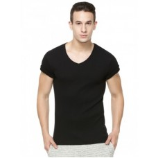 Deals, Discounts & Offers on Men - KOOVS Ribbed V-neck T-shirt
