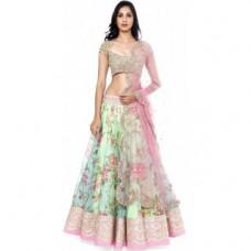 Deals, Discounts & Offers on Women Clothing - Janasya Womens Floral Printed Lehenga
