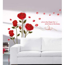 Deals, Discounts & Offers on Home Decor & Festive Needs - Cortina PVC Vinyl Romantic Theme Wall Sticker