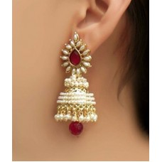 Deals, Discounts & Offers on Women - La Amber Traditional Jhumki Brass Jhumki Earring