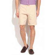 Deals, Discounts & Offers on Men - Kenneth Cole Reaction Solid  Beige Basic Shorts