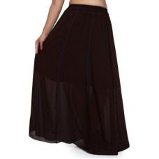 Deals, Discounts & Offers on Women - Pops N Pearls Solid Regular Brown Skirt