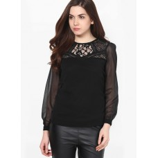 Deals, Discounts & Offers on Women Clothing - Harpa Black Embroidered Blouse