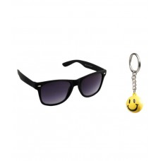 Deals, Discounts & Offers on Accessories - Night Vision Unisex Wayfarer Sunglasses Key Chain Combo