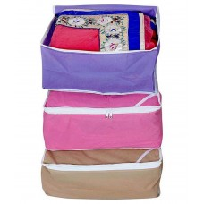Deals, Discounts & Offers on Accessories - Ombags&more Multicolour Saree Cover