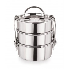 Deals, Discounts & Offers on Home & Kitchen - Neelam Stainless Steel 1100ml Lunch Box Set