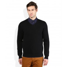 Deals, Discounts & Offers on Men Clothing - United Colors Of Benetton Black Sweater