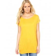Deals, Discounts & Offers on Women Clothing - Vero Moda Yellow Round Neck Top