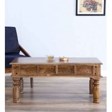 Deals, Discounts & Offers on Furniture - Avagraha Coffee Table in Provincial Teak Finish