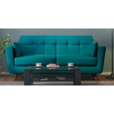 Deals, Discounts & Offers on Furniture - Castello Three Seater Sofa in Tampa Teal