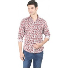 Deals, Discounts & Offers on Men Clothing - Flippd Men's Printed Casual Red Shirt