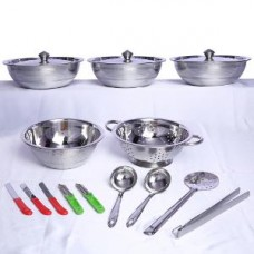 Deals, Discounts & Offers on Home & Kitchen - Flat 61% off on Greha Lakshmi 151 Pcs Stainless Steel Kitchen Set By Everwel