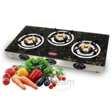 Deals, Discounts & Offers on Home & Kitchen - Padmini 3 Burner Gas Stove-CS-3GTA Garnet Black