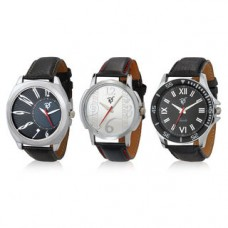 Deals, Discounts & Offers on Men - Rico Sordi Set of 3 Mens Leather Watches