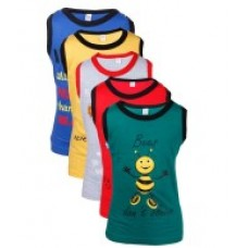 Deals, Discounts & Offers on Kid's Clothing - Goodway Junior Boy Pack of 5 Did You Know Printed Vest T-Shirts