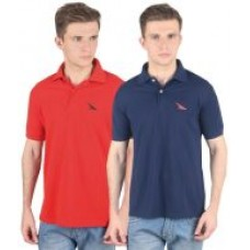 Deals, Discounts & Offers on Men Clothing - PRO Lapes Mens Polo Neck T-Shirt - Pack of 2