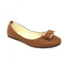 Deals, Discounts & Offers on Foot Wear - Royal Indian Exposures Brown Ballerinas