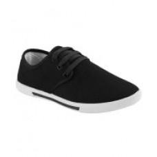 Deals, Discounts & Offers on Foot Wear - Super Matteress Black Canvas Shoes
