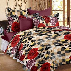 Deals, Discounts & Offers on Home Decor & Festive Needs - Story@ Home 120 TC 100% Cotton Brown 1 Double Bedsheet With 2 Pillow Cover