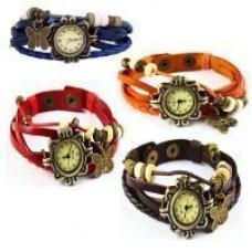Deals, Discounts & Offers on Women - Set Of 4 Vintage Style Ladies Leather Bracelet Watch