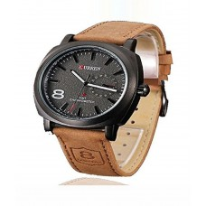 Deals, Discounts & Offers on Men - Curren Brown Analog Watch