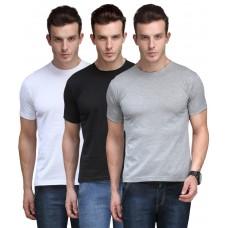 Deals, Discounts & Offers on Men Clothing - Scott International  Cotton Poly Viscose Regular Fit T Shirt