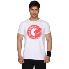 Deals, Discounts & Offers on Men Clothing - SayItLoud Printed Men's Round Neck White T-Shirt