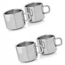 Deals, Discounts & Offers on Home & Kitchen - Dynamic Store Set Of 2 Double Wall Tea Cups