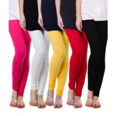 Deals, Discounts & Offers on Women Clothing - S Redish Set of 5 Multicolor Lycra leggings