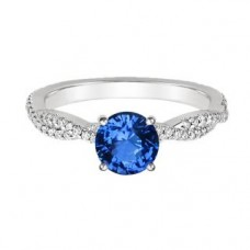 Deals, Discounts & Offers on Women - Adorable Blue Topaz White Gold Ring