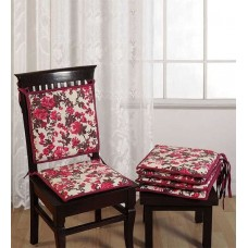 Deals, Discounts & Offers on Furniture - Swayam Brown Cotton 16 x 16 Inch Printed Chair Pad