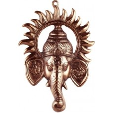 Deals, Discounts & Offers on Home Appliances - JaipurCrafts Matel Wall Hanging Of Lord Ganesha Inside Sun Showpiece