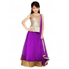 Deals, Discounts & Offers on Kid's Clothing - Najara Fashion Purple Net Lehengas
