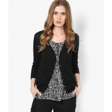 Deals, Discounts & Offers on Women Clothing - ONLY Black V Neck Cardigan