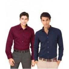 Deals, Discounts & Offers on Men Clothing - Unique For Men Cotton Blend Slim Fit Formal Shirt