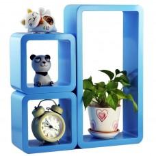 Deals, Discounts & Offers on Home Improvement - DecorNation Wall Shelf Set Of 3 Modern Cube Rectangle Rack Shelves