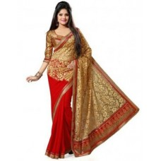 Deals, Discounts & Offers on Women Clothing - Bollywood Replica Shoppingekart Embriodered Fashion Georgette Saree