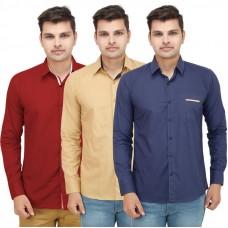Deals, Discounts & Offers on Men Clothing - VMENZ Set Of 3 Designer Casual Shirts For Men