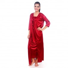 Deals, Discounts & Offers on Women Clothing - Flat 46% off onTrack Deal Satin Night Suit