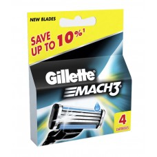 Deals, Discounts & Offers on Health & Personal Care - Gillette Mach3 Blades 4 Cartridges