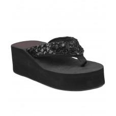 Deals, Discounts & Offers on Foot Wear - Do Bhai Black Wedges Heels