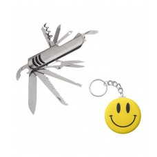 Deals, Discounts & Offers on Accessories - Fashion Deck Silver Keychain with Swiss knife