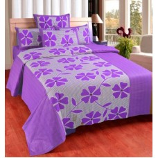 Deals, Discounts & Offers on Home Decor & Festive Needs - Zesture Cotton Floral Queen sized Double Bedsheet