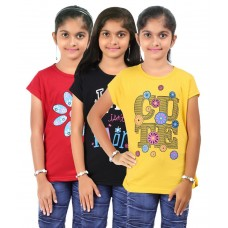 Deals, Discounts & Offers on Kid's Clothing - Bes-tex Kids Muti Color Cotton Casual Tshirt - pack Of 3