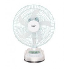 Deals, Discounts & Offers on Electronics - Eveready 10 Inch Rechargeable Table Fan with LED Light RF-04