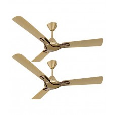 Deals, Discounts & Offers on Electronics - Havells 1200 mm Nicola Ceiling Fan Bronze Copper - Pack of 2