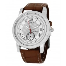 Deals, Discounts & Offers on Men - Relish Analog Leather Round Casual Wear Watch