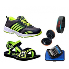 Deals, Discounts & Offers on Men -  ABZ Combo Of Sports Shoes & Sandals With Accessories @ Rs.1145/-
