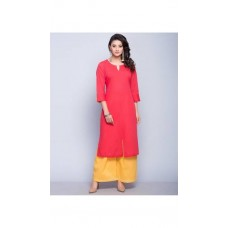 Deals, Discounts & Offers on Women Clothing - Style Amaze Presents Pink & Yellow Designer Salwar Suit Without Dupatta